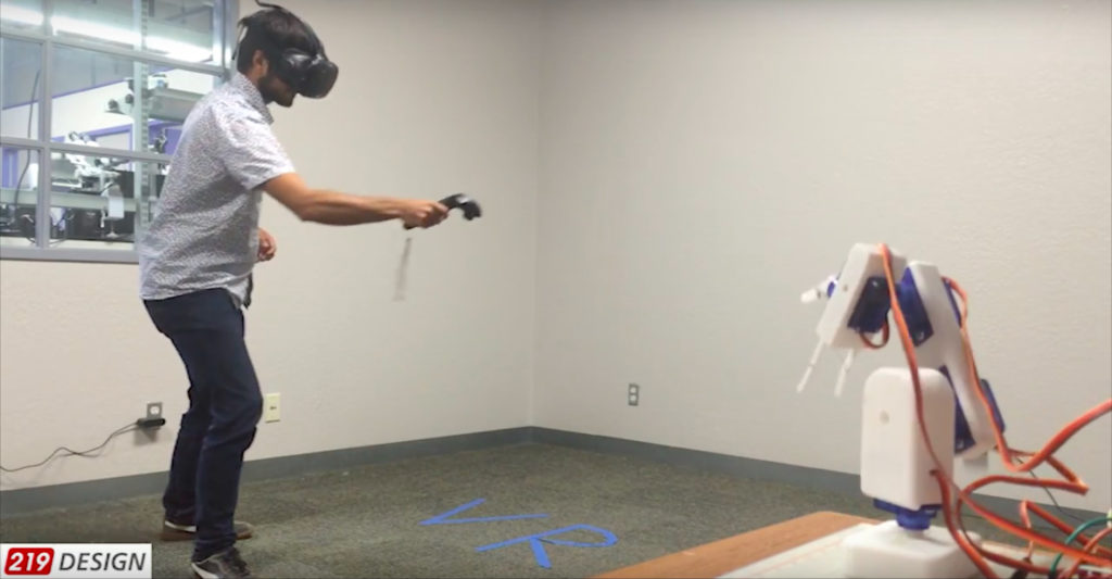 Virtual Augmented Reality Robot Arm