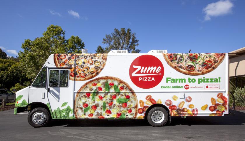 pizza shipping van